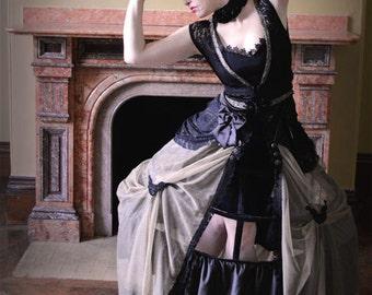 Gothic geisha steampunk barbie dress kimono