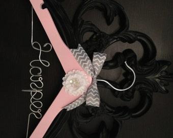 Baby Hanger / Children's Personalized Hanger / DESIGN YOUR OWN- Girl / Baby Shower Gift / Flower Girl Hanger / Flower Girl Gift