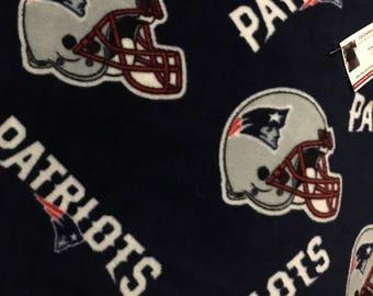 Patriots fleece hand tied reversible blanket
