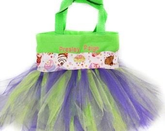 Kids Purse, Cupcake Tote Bag, Cupcake Party Favors Bag, Monogram Name Embroidered on The Bag. Personalized Girl Dance Bag, Cupcake Bag