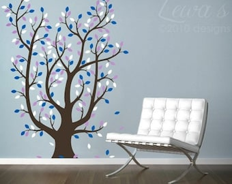 Leafy Tree Wall Decal Extra Large, Leafy Tree Decal, Tree with Leaves Decal, Tree with Leaves Wall Sticker, Classroom Tree Decal