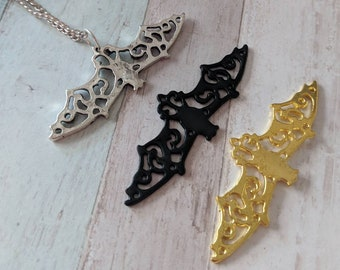 Wiccan jewelry, wiccan necklace,bat necklace, bat jewelry, gothic jewelry, gothic necklace, Halloween necklace, animal necklace,