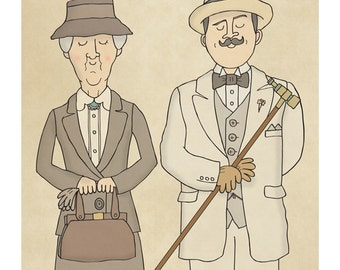 Poirot and Marple - Illustration Print