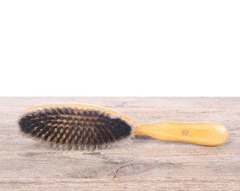 Antique Shoe Brush / German Wood Boot Brush / Polishing Brush / Shoe Care / Shoe Shine Brush / Black Shoe Brush / Bristle Shoe Brush