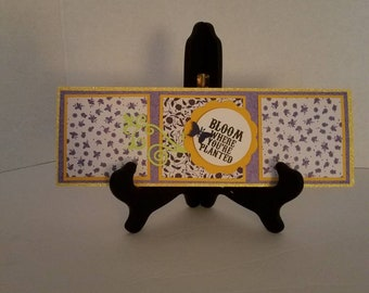 Encouragement Card, Bloom Where You're Card, Tile Card