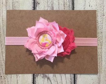 Princess Aurora Headband ,Sleeping Beauty Headband ,Baby Headband ,Aurora Inspired Baby Headband ,Princess Baby Headband