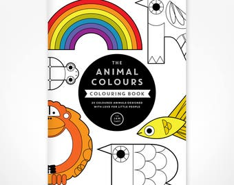 Animal Colours Colouring Book - 28 pages of colouring activities for children - beautiful quality