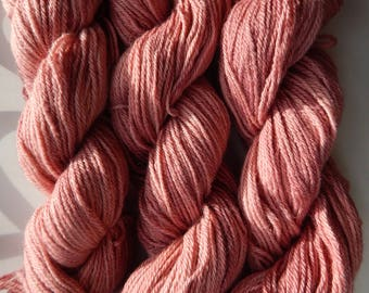 100% Baby Alpaca Yarn 200 Yd Skeins Hand Dyed Dusty Rose, Handmade Projects, Crochet, Knit, Baby Blanket, Baby Sweater