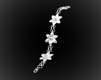 Silver Lotus bracelet