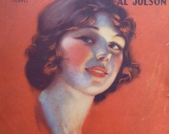 2 Vintage 1920's Music Sheets