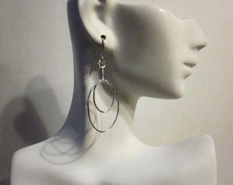 Bella's Double Dangle Hoop  Earrings