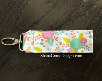 One Clip-On Lip Gloss Holder . Bright Floral