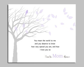 Mothers Day Gift - Gift for Mom - Birthday Gift - Personalized Art Print - Tree Art