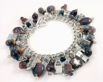 Coffee Lovers Charm Bracelet