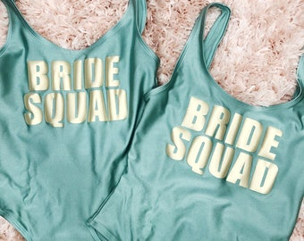 Bride Squad Swimsuit | Bride Squad Bathing Suit | Bride Squad Gift