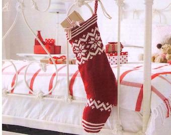 PDF Christmas Stocking Knitting Pattern