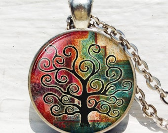 Tree of life pendant , Black Tree Pendant ,Woodland jewelry ,Tree of life jewelry nature pendant