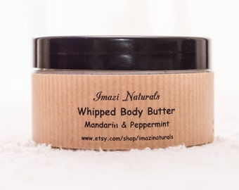 Body Butter, Natural Body Butter, Whipped Body Butter, Mandarin & Peppermint Body Butter, Shea Body Butter, Natural Body Butter, Vegan