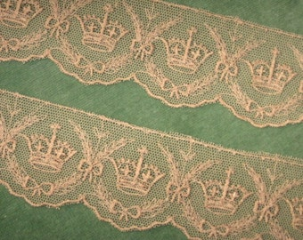 Embroidered Net Lace Crowns & Bows