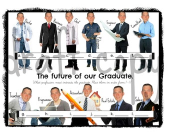 Graduate Party Game: Future of our Grad | Custom -Instant Download