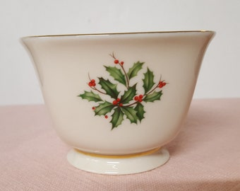 Vintage Lenox Holiday Candy Dish 24K Trim