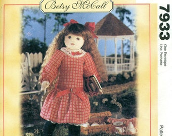 McCall's 7933 BETSY McCALL Doll and Clothes Pattern Victorian Schoolgirl Dress