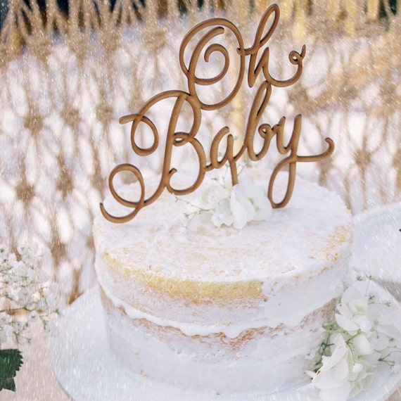 Rustic Cake Topper, Oh Baby Cake Topper, Baby Shower Cake Topper, Baby Cake Topper, Gender Reveal Cake Topper, Baby Boy Cake, Baby Girl Cake