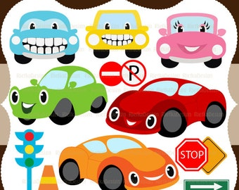 My Happy Cars Clipart