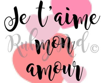 I Love You My Love in French Wall Art