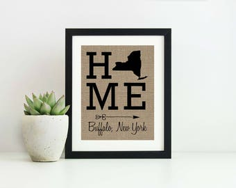 Housewarming Gift First Home- Home Signage- State Sign- Entryway Sign- Bridal Shower Gift-Rustic Home Decor-Gallery Wall Decor-New Home Gift