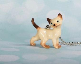 Siamese Cat Necklace - Siamese Jewelry - Siamese Cat Pendant - Cat Necklace - Siamese Cat Jewellery - Siamese Cat Pendant Necklace - Meow