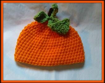 Pumpkin Hat Adult Size Handmade Crochet Made to Order
