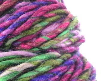 Hand Spun Art Yarn. Knitting Crochet Weaving Wool Fibre