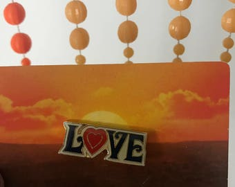 Vintage Deadstock Enamel Official All You Need is LOVE