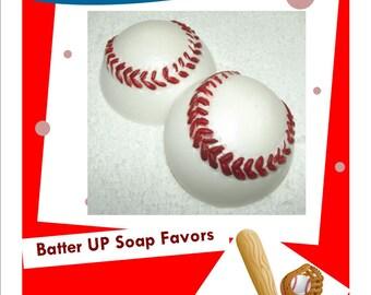 Baseball Soap, Baseball Party Favors, Little League Gift, Baseball Birthday, Sports Party Favor