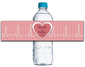 Custom Wedding Water Bottle Labels, Waterproof Water Bottle Labels, Wedding Party Labels, Party Decor, Bridal Shower Labels  WBL137P