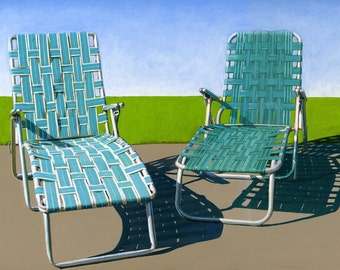 Summer Loungers - 11 x 14 limited edition giclee print 99/100