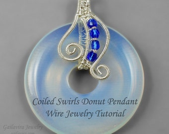 Coiled Swirls Donut Pendant Wire Wrap Tutorial