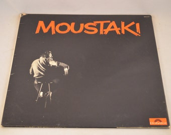 Vintage Gatefold FRENCH PRESS Record Georges Moustaki Self Titled Album 2473-017