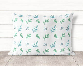 Watercolor Botanical Pillowcase-Botanical Leaves Pillow covers-Home Decor-Pillow cases-Pillowcases-Pillow covers 30x20