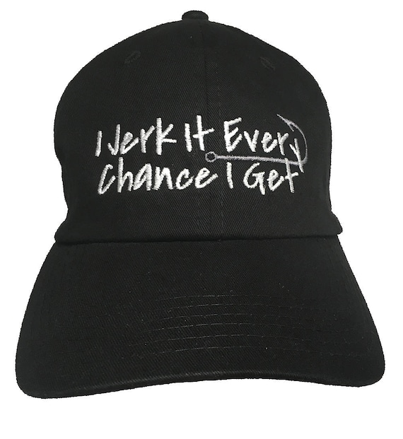 I Jerk It Every Chance I Get - Polo Style Ball Cap (Black)