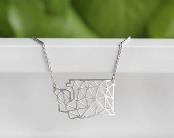Washington Geometric Necklace | Silver | Small | ATL-N-189-S