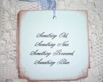Wedding Gift Tags - Something Old, Something New Poem - Wish Tree Tags - Lovely - Set of Six
