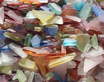 "Beach Decor Bulk Sea Glass, Bulk Seaglass, Nautical Decor Tiny Sea Glass, Tiny Beach Glass, Craft Sea Glass, TINY MIX - 3x4"" BAG"