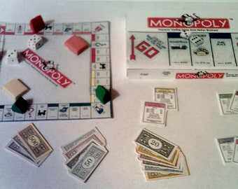 American Girl Sized Monopoly Board Game Set