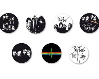 Lot Pins Ø25mm - o38mm Pinback Button Badge / Magnet o38mm Pink Floyd UK Rock