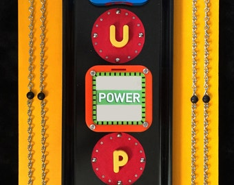Recycled Mixed Media Assemblage - Power UP