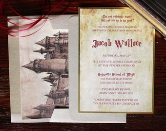 Harry Potter Theme Invitations (50 count)