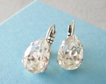 Bridesmaid Earrings set of 5 Crystal Teardrop Crystal Wedding Jewelry Bridal Sets Vintage Style Swarovski Elements Nickel free