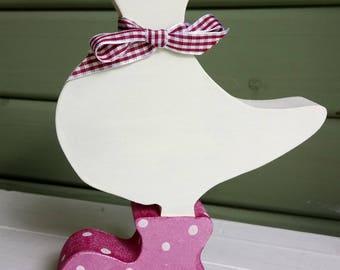 wooden duck. Handmade cute wooden duck
